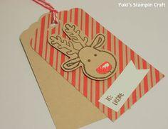 スタンピンアップ クッキーカッター・クリスマス・スタンプセットとパンチでクリスマスのタグを作りました! Christmas tag using Cookie Cutter Christmas stamp set & Cookie Cutter Punch, Stampin' Up!