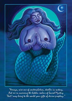 Yemaya, Goddess of the Sea Blue...