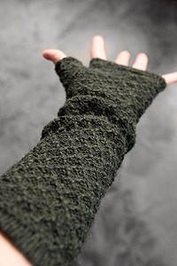 Alpaca Beehive Knit Long Arm Warmers