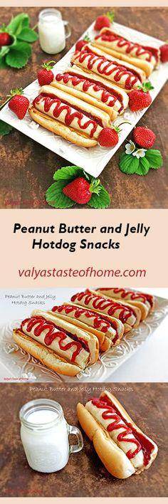 Peanut Butter and Jelly Hotdog Snacks http://valyastasteofhome.com/peanut-butter-and-jelly-hotdog-snacks