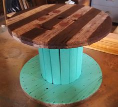 Upcycled Industrial Spool Table by WanderlustWhimsy on Etsy, $550.00