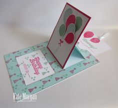 Pop up Slider Card Balloon Celebration Bouquet #stampinup Occasions 2016