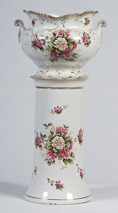 English Jardiniere and Pedestal.