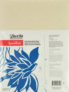 Speedball 9-Inch-by-12-Inch Fine Printmaking Paper, 25 Sheets Pack Speedball http://www.amazon.com/dp/B004EWGHNE/ref=cm_sw_r_pi_dp_-oMAub1R404A7