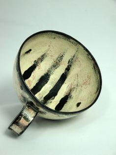 Black and white stripe cup - Olia Lamar