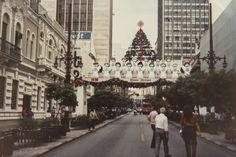O arco que conectava as duas calçadas da Barão do Rio Branco era destaque da decoração. Foto: Letícia Akemi/Reprodução