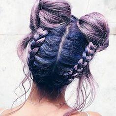 Ultimate #hairgoals! Pastel goth vibin' Startling perspective