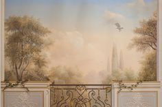 Trompe l'oeil painting (Trompe l'oeil mural paintings) serve to create absolutely new, fabulous or open space in the Neo-Classic-style interiors, as well as to change the size of the rooms. Faux Painting, Mural Painting, Classic Style, Decorative Paintings, Birds, Park, Murals, Room, Design Ideas