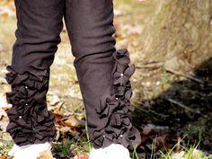 Cute ruffled pants!