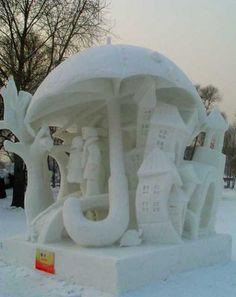 The winning sculpture of the Harbin Snow Festival.