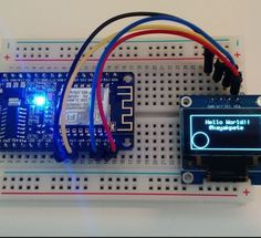 Using the NodeMCU ESP8266 + OLED display, including code examples…