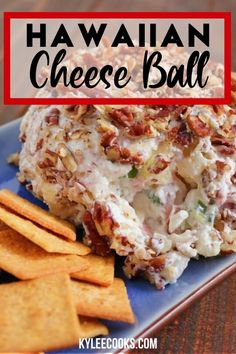 Hawaiian Cheese Ball Easy and fast to mix up, and place in the fridge for later. A great make ahead appetizer, this Ham & Pineapple Cheese Ball is sure to please the majority of guests! Make Ahead Appetizers, Best Appetizer Recipes, Cheese Ball Recipes, Finger Food Appetizers, Appetizer Dips, Yummy Appetizers, Appetizers For Party, Christmas Appetizers, Hawaiian Cheese Ball Recipe