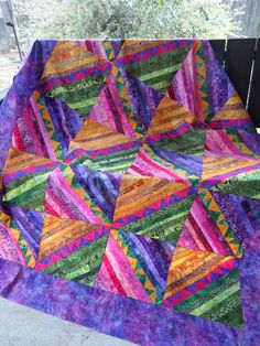 UnRuly Quilting: Amish Strings - the flimsy
