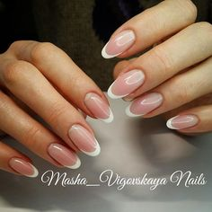 - Care - Skin care , beauty ideas and skin care tips French Acrylic Nails, Almond Acrylic Nails, Best Acrylic Nails, French Tip Nails, Oval Nails, Gold Nails, Pink Nails, Cute Nails, Pretty Nails