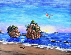 Brightscapes: The Way To Beauty  Two Rocks In the Sea: Manuel Antonio Beach, Costa Rica https://www.etsy.com/listing/186507940/custom-commission-original-art-by-mike  LET'S CREATE YOUR VERY OWN PAINTING TOGETHER! Your cherished memory or idea can be made into a work of art. Whether you want to remember a special day or give something to a caring friend; we can work together to create something unique. Invest in yourself and the arts with a special vision to color your walls.