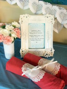 EAT DRINK PRETTY: Guest post: doily bridal shower ideas from Marry You Me