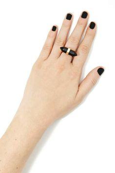 Smoking Stone Ring