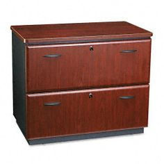 Bush WC94454ASU - Series A Two-Drawer Lateral File, 35-3/4 x 23-3/8 x 29-7/8, Hansen Cherry/Galaxy by Bush. $378.75. Melamine worksurface is glare-, scratch- and water-resistant. Accommodates letter/legal size hanging files.. 2-Drawer; File Cabinet; Files; Furniture; Hansen Cherry/Galaxy; Lateral File; Office Suites; Series A; Wood; Filing; Systems; Receptacles; Organization BBF; Storage; Hansen Cherry; Desk File; Bush Business Furniture. Finish helps protect against daily we...