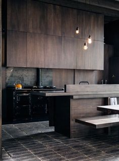 The best modern kitchen design this year. Are you looking for inspiration for your home kitchen design? Take a look at the kitchen design ideas here. There is a modern, rustic, fancy kitchen design, etc. Stylish Kitchen, New Kitchen, Kitchen Decor, Kitchen Wood, Kitchen Modern, Masculine Kitchen, Kitchen Ideas, Kitchen Furniture, Kitchen Storage