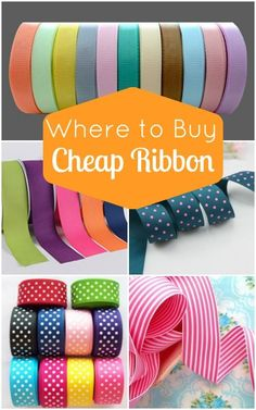 Great list of places to buy cheap ribbon both online and in store.