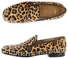 Christian Louboutin Charlie Leopard Pony Loafer