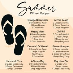 Essential Oil Diffuser Recipes for Summer Living Essentials, Diffuser Recipes, Young Living Essential Oils