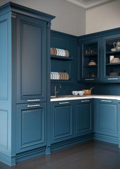 Каталог кухонь | BRISTOL BLUE | Кухни VIRS Tall Cabinet Storage, Locker Storage, Lockers, Bristol, Kitchen, Furniture, Home Decor, Cooking, Homemade Home Decor