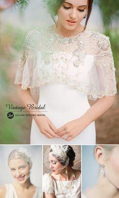 vintage wedding dress and accessories ideas for 2015 trends #vintageweddingideas #elegantweddinginvites
