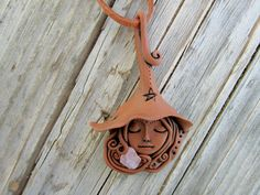 Witch Pendant  Magick Mystic Pagan Wiccan Goddess by MadrePiedra, €28.00