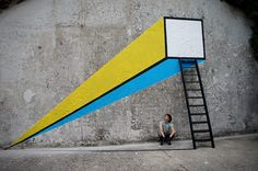 Fontface Nice Urban Intervention in Trieste, Italy #fontface #Italy #streetart