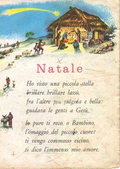 Christmas Art, Xmas, Italian Language, Learning Italian, Virgin Mary, Nursery Rhymes, Vintage Posters, Fairy Tales, Homeschool