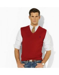 Polo Ralph Lauren Men\u0026#39;s V-Neck Sweater Vest POLOV020 $22