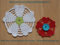 Hearts and Flowers Free Crochet Pattern