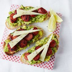 Avocado and Chorizo Bruschetta - Woman And Home
