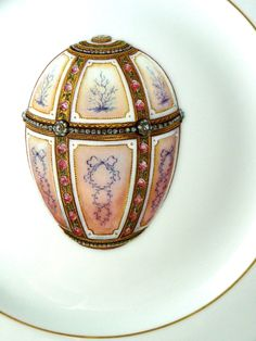 """The 'Twelve Panel' Faberge Egg ~ made in 1899 for Alexander Kelch to give to his wife.  This egg was not part of the """"Imperial"""" collection.  It is currently part of the Royal Collection of Her Majesty Queen Elizabeth II of England.  The other Faberge eggs in that collection are Imperial eggs 'Basket of Wild Flowers,' 'Colonnade,' and 'Mosaic.'"""