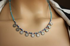 Turquoise  Afghan Bead Ethnic/Authentic Necklace