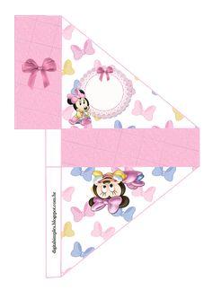 "Kit de Personalizados ""Minnie Mouse Baby"" para Imprimir - Convites Digitais Simples"