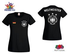 Weltmeister Lady T-Shirt FRUIT OF THE LOOM Rundhals & V-Neck, Flexdruck
