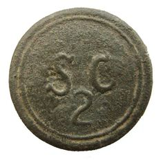 2nd South Carolina Infantry button from the Revolutionary War, excavated in SC