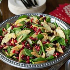 Apple Cranberry Spinach Salad - an insanely delicious, super healthy salad - perfect for any fall/holiday get together!