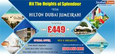 Enjoy a special 3 nights at #Hilton #Dubai #Jumeirah at a discount of 25% numerous other offers also available to be redeemed. Call now for details and bookings. http://www.southalltravel.co.uk/holidays/middle-east/dubai/hilton-dubai-jumeirah.aspx