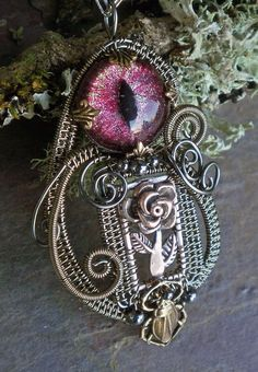 Gothic Steampunk Eye of the Rose...EYE see you
