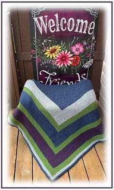 Ravelry: Quarter Log Cabin Throw pattern by Knitwits Heaven Celtic Shamrock, Roving Yarn, Happy Flowers, Circular Needles, Needles Sizes, Garter Stitch, Yarns, Ravelry, Have Fun
