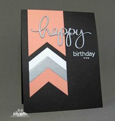 handmade birthday card from JENerally Speaking: Runway Banner . - handmade birthday card from JENerally Speaking: Runway Banner … black background … inspiration - Handmade Birthday Cards, Happy Birthday Cards, Card Birthday, Birthday Ideas, Happy Birthday Funny, Simple Birthday Cards, Birthday Invitations, Birthday Design, Birthday Gifts