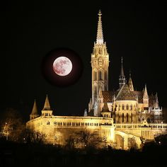 Super Moon over Budapest