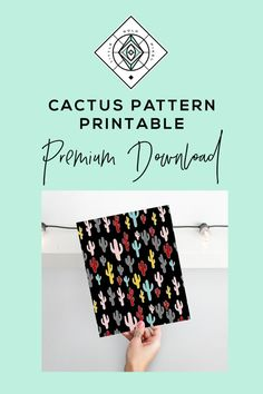 Cactus Print Succulent Poster Cacti Printable by littlegoldpixel