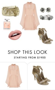 """""""Blush & Gold"""" by alexissuitcase on Polyvore featuring Emilio Pucci, Jimmy Choo and Nevermind"""
