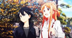 Kirito & Asuna in the real world (Sword Art Online Season 2 Episode 1 ) Sword Art Online Asuna, Arte Online, Online Art, Tous Les Anime, Desenhos Love, Sword Art Online Wallpaper, Kirito Asuna, Online Anime, Cute Anime Couples