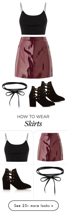 """Shiny Skirt for New Year's Eve"" by svs-selma-svs on Polyvore featuring Miss Selfridge, Alexander Wang and Hudson"