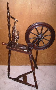19th Century Spinning Wheel Stamped 'Doughty, York'.